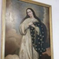 キトの教会でのマリア様の御影(ごえい)
