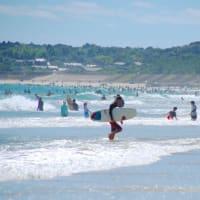 戻り夏の志摩の海