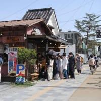 フランス郷土料理の「シュエット」でランチ、デザートに「軽井澤ソフトクリーム」(5月4日 長野県軽井沢町)