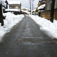 やっと除雪が入った
