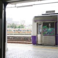 元東急 豊橋鉄道1800系とトヨタロンパス (2019年7月 豊橋駅)