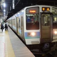 信州信濃の・・・長野駅ホームの風景