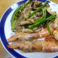 おばさんの料理教室 海老と椎茸を使ったアヒージョ