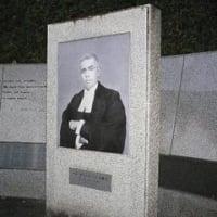 ラダ・ビ・ノード・パール博士顕彰碑。