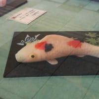 文銭堂三田店の工芸菓子は見事な鯉