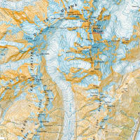 ニュージランド 地形図 Mt.Cookの巻