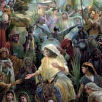 「ダヴィドの子にホザンナ!」ユダヤ人からも異邦人からもローマ当局からもイエズスは真の王として宣言される。