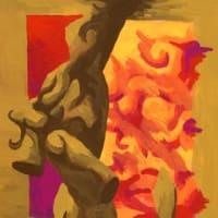 「サロン(展示9)」(アクリル画)