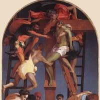 生でロッソ・フィオレンティーノ(Rosso Fiorentino)の「キリスト降架」修復ーVolterra