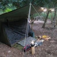 2019.10/23(水) キャンプ。グリーンシートタープとスクリーンテント泊。