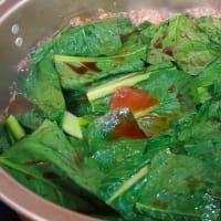 厚揚げと小松菜 ~絶好の組み合わせを炊いて475円~