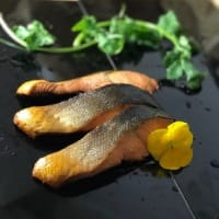 久し振りの 鮭の燻製
