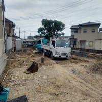南沖洲の家、基礎工事着工