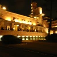 旧甲子園ホテルのライトアップ