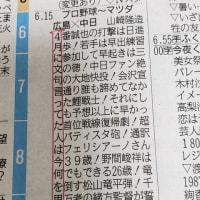 カープを信じてよかった、中国新聞の横読み・・縦読みが素晴らしい~!