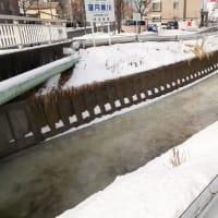 札幌・街の一コマ : 氷の川