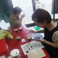 加賀棒茶とコラボで新商品開発・・・・京都からご来店。色々と楽しいお話を聞かせていただきました。