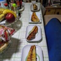 「うちの晩ご飯  」豚汁とホッケ