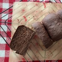 ココア山食パンを焼いて 水出しハーブティーと一緒に♬