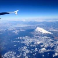 2年前の1月、飛行機から撮影した富士山