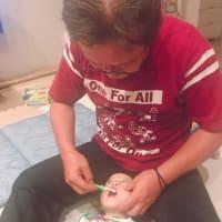 織り姫の歯磨き