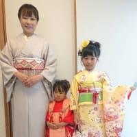 令和元年10月19日の出張着付1件目は大阪狭山市、訪問着と7才3歳のお嬢様の着付&ヘアセットでした。