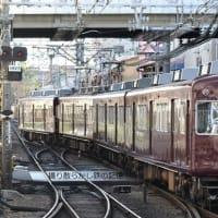 阪急 石橋(2012.1.7) 3080、3160 並び、3080F 回送