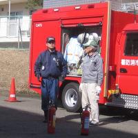 団地の防災訓練