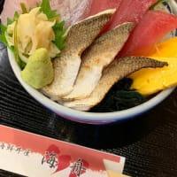 本日の地魚丼!キハダ鮪、シロダイ、炙りカマス!海鮮丼屋 小田原 海舟 本店