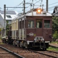高松琴平電鉄 出作第3踏切(2020.11.22) レトロ電車 300、旧京急 1213 並び