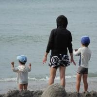 孫や仲間たちと千葉の海へ