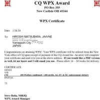 WPX Certificate