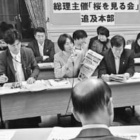 「桜を見る会」名簿 与党ごまかし次々発覚 田村議員説明要求の3日後に書き換え