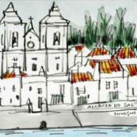 2233. アルカサール・ド・サルのカテドラルとサド川