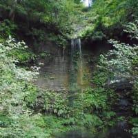連日の猛暑!・・・一服の涼!料亭の庭の滝に癒されます。