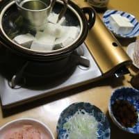 居酒屋秋ちゃんの湯豆腐セット、炊屋食堂はお休み・・・