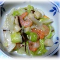 白菜とエビの中華炒め
