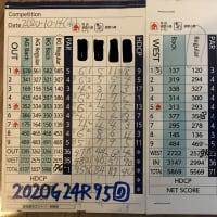 今日のゴルフ挑戦記(326)/東名厚木CC ウエスト→アウト(B)