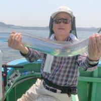 観音崎沖のタチウオ釣り