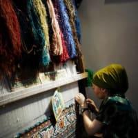 Knitting carpet☆ウズベキスタンの工芸品