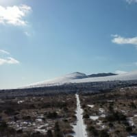 大島の空から=その⑦ 雪の三原山