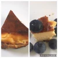 「バスクチーズケーキ」とブルーベリー