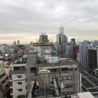 東京都心の怪しい空模様