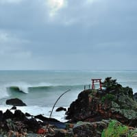 10号台風前日の海