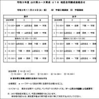 〔大会情報〕R3山口県U16地区合同錬成会