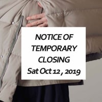 NOTICE OF TEMPORARY CLOSING : Sat Oct 12 , 2019