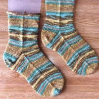 手編み靴下 作品NO.273