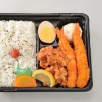 NO,10 エビフライ&醤油ザンギ弁当 税込600円