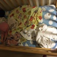 赤ちゃんの寝相問題