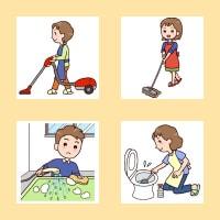 「掃除1」(生活・くらし/人物)